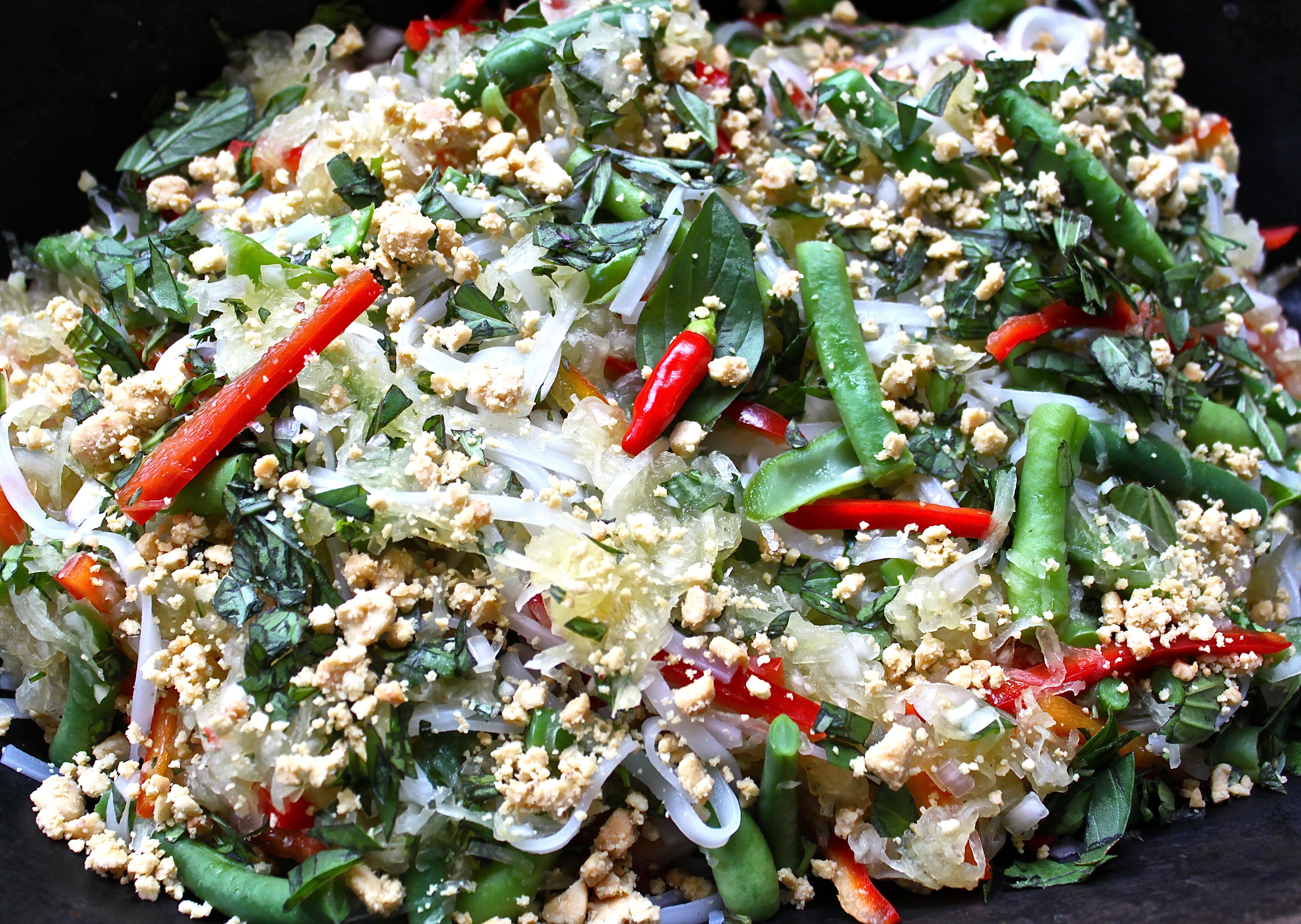 Green Papaya Pad Thai Salad (… and maybe a fish or two ...
