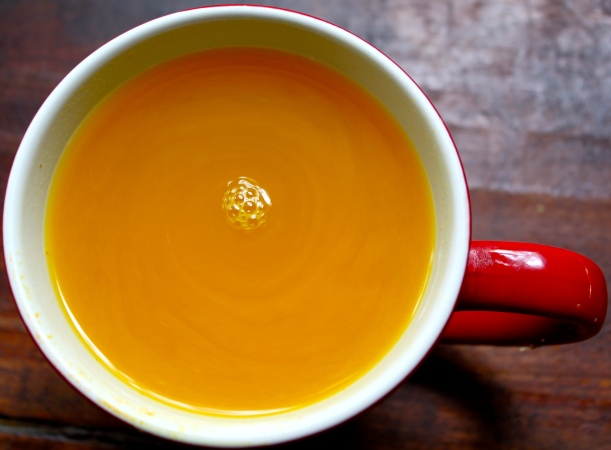 Honey-laced Lemon, Ginger & Turmeric Tea.
