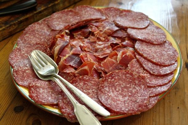 Italian salami and Spanish jamon.