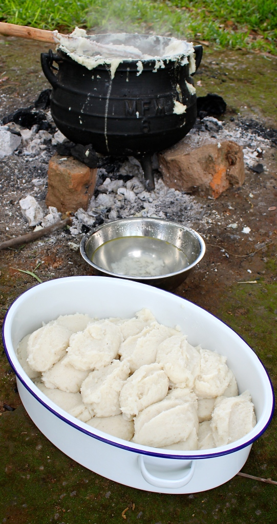 Nshima: a maizemeal porridge, which is a staple food in Zambia.