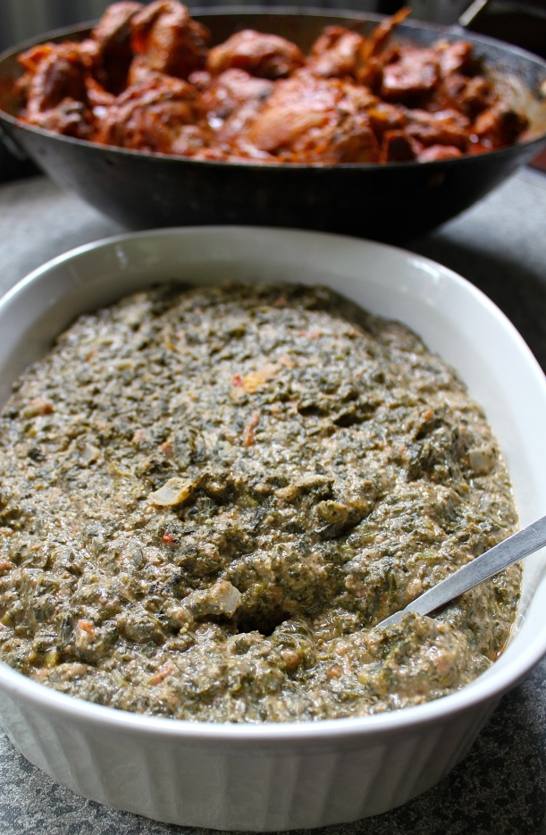 Vishashi: a dish made out of pumpkin leaves and groundnuts.