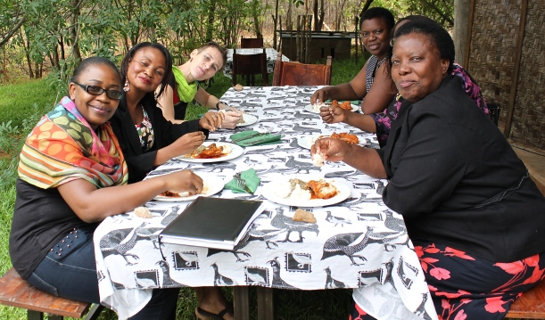 Some of the HIV advocacy group that travelled to the farm for a workshop and lunch.