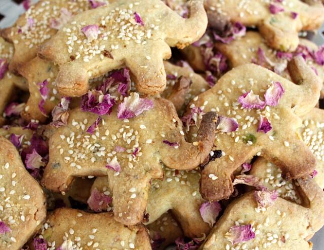 Baobab & Rosewater Elephant Cookies.