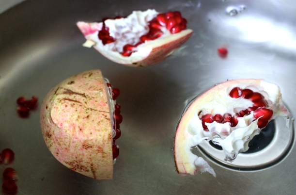 How we deseed our pomegranates.