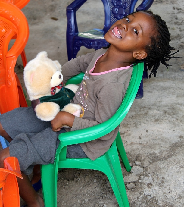 My assistant Adelina Banda's daughter, Techla, one of the 22 founding students.