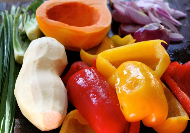 A selection of the fresh ingredients I used in my frittata.