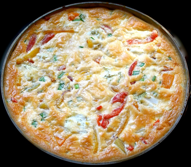 Butternut Frittata with Goats' Cheese and Roasted Peppers