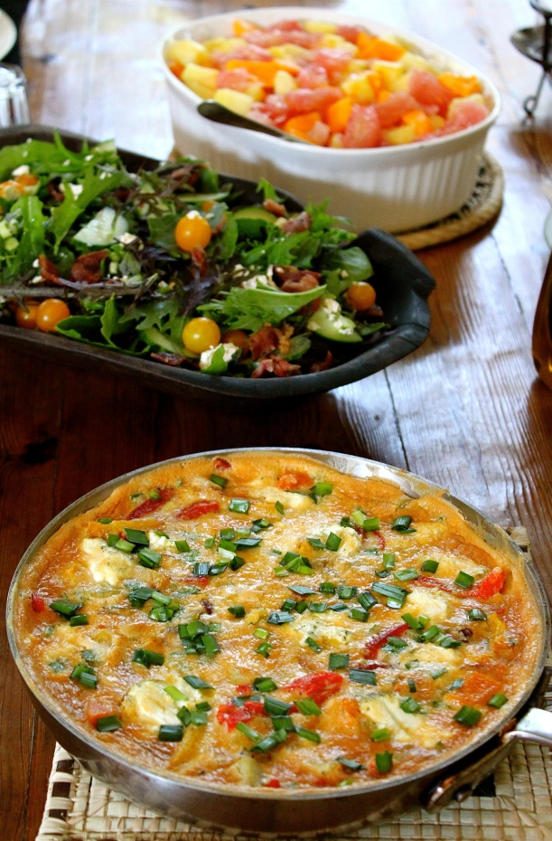 A frittata is perfect brunch food.